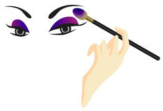 Eyes Sketch with Make Up Royalty Free Stock Photos