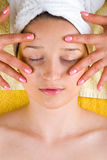 Eyes skin facial massage Royalty Free Stock Image
