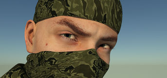 Eyes of the soldier Royalty Free Stock Image