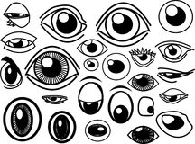 Eyes Stock. Collection of many vector eyes