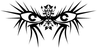 Eyes tattoo in black isolated Stock Image