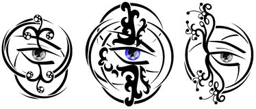 Eyes tattoo Royalty Free Stock Images