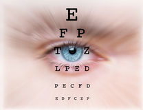 Eyes  test  chart Royalty Free Stock Photography