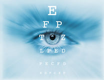 Eyes  test  chart. Vision eye test chart Royalty Free Stock Images
