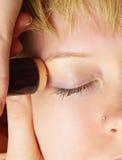 Eyes treatment Royalty Free Stock Image
