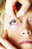Eyes treatment Stock Image