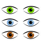 Eyes in various colors Stock Photo