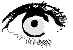 Eyes, vector Royalty Free Stock Photography