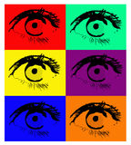 Eyes, vector Royalty Free Stock Photos