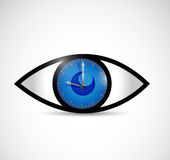 Eyes and watch illustration design Royalty Free Stock Photo