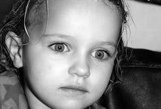 eyes whit девушки большой унылый Стоковая Фотография RF