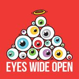 Eyes wide open pyramid Royalty Free Stock Photo