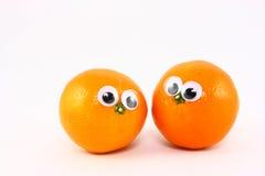eyes wiggly nya frukter två Royaltyfri Fotografi