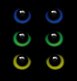 Eyes of a wild animal in the darkness vector. Illustration stock illustration