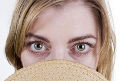 Eyes of a woman close up Royalty Free Stock Photos