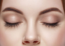 Eyes woman closed eyebrow eyes lashes Royalty Free Stock Photography