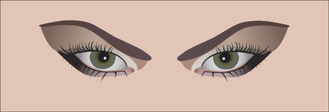 eyes womans Stock Illustrationer