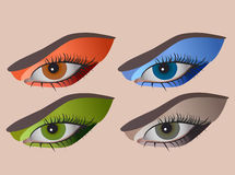 eyes womans vektor illustrationer