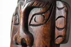 Eyes of Wooden art object Stock Images