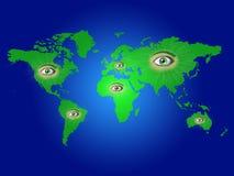 Eyes world map Stock Images