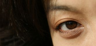 Eyes of a young Asian woman Royalty Free Stock Images
