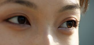 Eyes of a young Asian woman Royalty Free Stock Photography