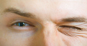 Eyes of the young men Royalty Free Stock Photos