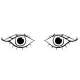 Eyes young women look forward silhouette. vector illustration Royalty Free Stock Image