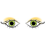 Eyes young women look forward silhouette. vector illustration Stock Photos