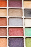 Eyeshadow 2. Closeup of different colored eye shadows Stock Photography