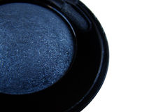 Eyeshadow. Blue eyeshadow in the white background Stock Photo