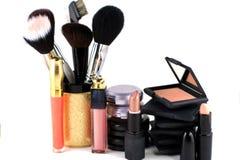 Eyeshadow And Blush Makeup Display Stock Photo