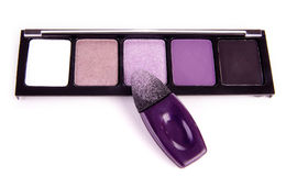 Eyeshadow with applicator. With white background Stock Photography
