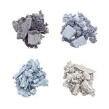 Eyeshadow in blue and silver Royalty Free Stock Images