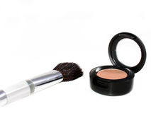 Eyeshadow And Brush Royalty Free Stock Photography