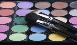 Eyeshadow with brushes Stock Images