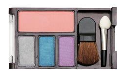 Eyeshadow. Closeup image of eyeshadow set for beautiful woman royalty free stock photo