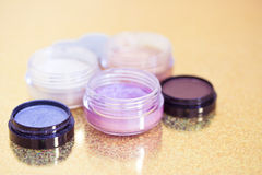 Eyeshadow colors, cosmetics series Stock Photography
