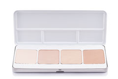 Eyeshadow of different colors over white background Royalty Free Stock Photo