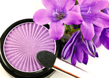 Eyeshadow and flowers Stock Photos