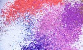 Eyeshadow kosmetyka kopii proszek Rozpraszająca przestrzeń różnorodny set na białym tle Pojęcie mody i piękna indust Zdjęcie Royalty Free