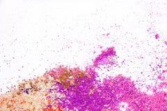 Eyeshadow kosmetyka kopii proszek Rozpraszająca przestrzeń różnorodny set na białym tle Pojęcie mody i piękna indust Zdjęcie Stock