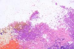 Eyeshadow kosmetyka kopii proszek Rozpraszająca przestrzeń różnorodny set na białym tle Pojęcie mody i piękna indust Obrazy Stock