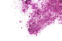 Eyeshadow kosmetyka kopii proszek Rozpraszająca przestrzeń różnorodny set odizolowywający na białym tle Pojęcia piękno i moda Zdjęcia Stock