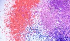 Eyeshadow kosmetyka kopii proszek Rozpraszająca przestrzeń różnorodny set odizolowywający na białym tle Pojęcie mody i piękna ind Zdjęcie Stock