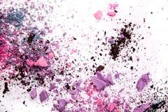 Eyeshadow kosmetyka kopii proszek Rozpraszająca przestrzeń różnorodny set odizolowywający na białym tle Pojęcie mody i piękna ind Obraz Royalty Free