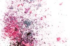 Eyeshadow kosmetyka kopii proszek Rozpraszająca przestrzeń różnorodny set odizolowywający na białym tle Pojęcie mody i piękna ind Zdjęcia Royalty Free