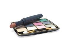 Eyeshadow and lipstick Royalty Free Stock Photo
