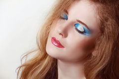 Eyeshadow make up. Beauty Face Royalty Free Stock Photography