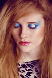 Eyeshadow make up. Beauty Face. Fashion Stock Images